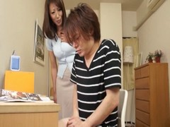 mom helps her daughter s friend take care of the