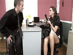 Brunette Tori Black Gets All She Can Handle In This Office Fuck