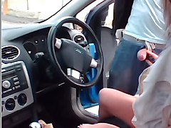 wife dogging in car park