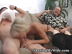 real homemade 2 matures share young cock