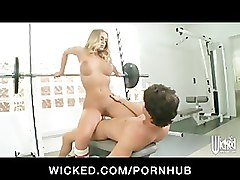 blonde hentai gym
