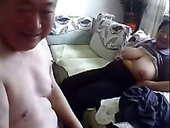 chinese and white cock