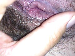 cumshot on shaved pussy