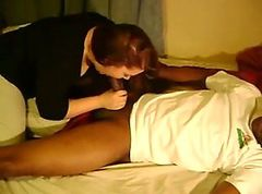 Nice lady making love to a black man