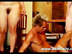 two bbw femdoms use a guys cock hard