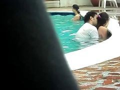 big orgy at the pool blowjob oral
