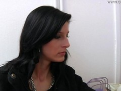 gyno clinic examination of a girl pee gagging