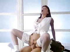 busty milf sucking young guy riding
