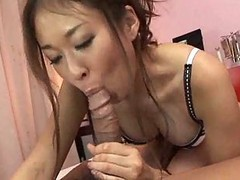 Extremely Hot Japanese Risa Misaki Suck A Cock And Handjob