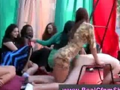 femdom mom spanks and straps on son